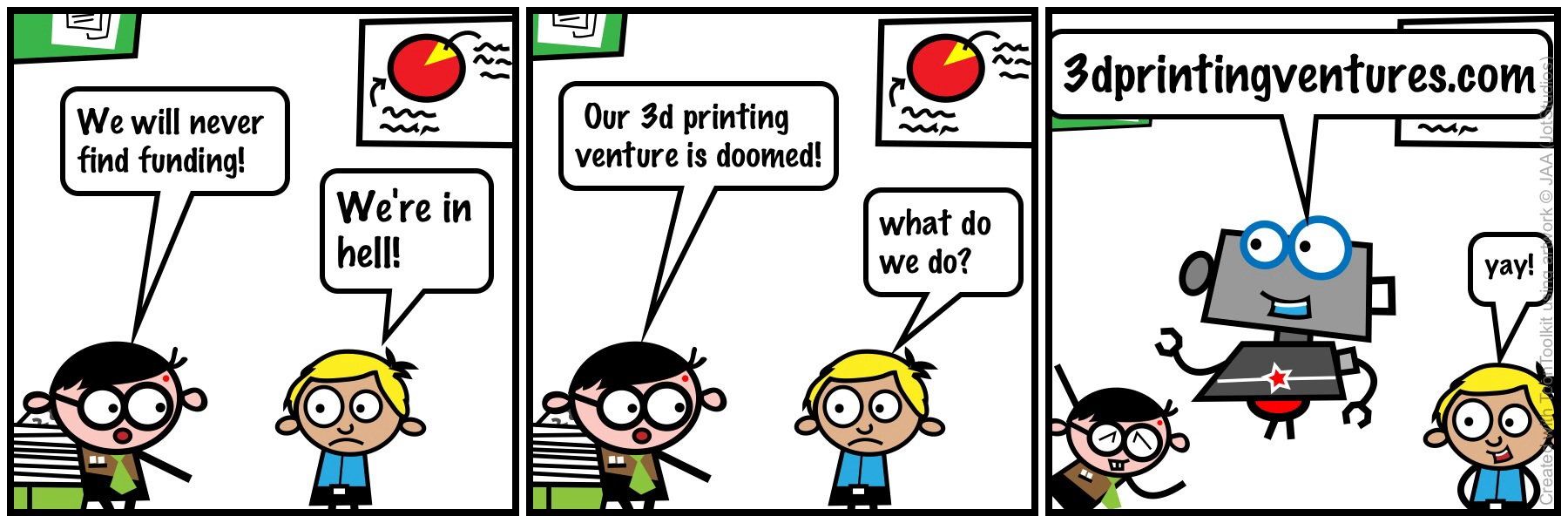 3D Printing Finance Cartoon