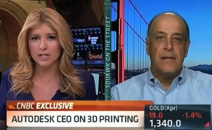 Carl Bass of Autodesk Talks About 3D Printing on CNBC